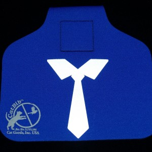 Big Tie Reflector on Cat Bib