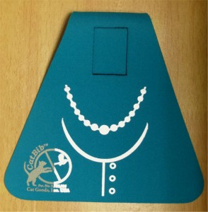 Small catbib with pearl necklace